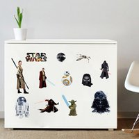 best wallpapers - Star wars character figure wall stickers Darth Vader Robot bb8 Kyloren rey children bedroom Removable wallpaper home Decal decorative best