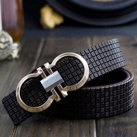 Wholesale Fashion Women Men Luxury Printing Leather Smooth Pin Buckle Casual Waist Strap Belt D0257