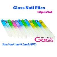 Wholesale ail Tools Nail Files Beauty Professional Salon amp Personal Nail Art tools12pcs cm length multi color manicure pedicure mini glas