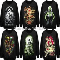 Cheap EAST KNITTING 2014 Autumn New Fashion Women 3d Clothing Lady Pullovers Tops Punk Clothes long Sleeve hoodies Sweatshirt