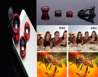 Wholesale 2015 Best selling Universal in1 Clip On Fisheye Lens Wide Angle Macro Mobile Lens For iPhone Samsung Galaxy S4 S5 All Phones Fish Eye