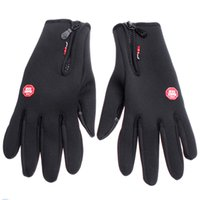 Wholesale Outdoor Sports Winter Warm Leather Gloves Men Women Cycling Bike Hiking Motorcycle Ski Touch Screen Long Tactical Gloves H4982