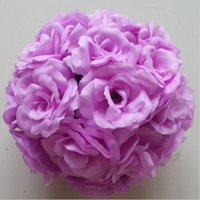 ball select - Luxury Wedding Decoration Theme Light Purple Artificial Roses Flower Balls Kissing Balls Floral Supplies For Party CM to cm Select