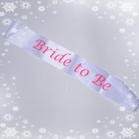 hen party - BRIDE to Be satin sash for bachelorette party Hen nights bridal team favor wedding accessories fit party dresses events supplies TY886