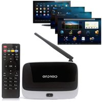 Wholesale XBMC Quad Core Android TV Box Full HD CS918 Q7 RK3188T P Media Player GB GB Wifi Antenna with Remote Control Receivers
