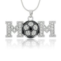 african soccer - DIY Jewelry Bodybuilding Fitness Soccer Mom Pendant Snake Chain Rhodium Plated Woman A Necklace