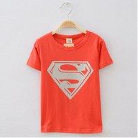 Wholesale boys superman short sleeve t shirt children tops kids summer fashion garment