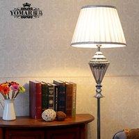 Atacado-Elegante crystal fashion ikea lâmpada de chão sofá de canto, quarto abajur com tecido de máscaras de lâmpada piantana lampada