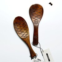 Wholesale Wooden Rice Scoop cm Fish shaped Rice Scoop Japanese Korean Style Cooking Tools MOQ Piece