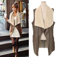 eye hooks - 2015 fashion retail Women Faux Fur Vests Jacket Gilet Outerwears Cream Long Hot Sale Waistcoats Tops