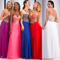 Wholesale Gold Appliques Formal Dresses Evening Wear Sweetheart off the Shoulder A Line Royal Bue Evening Dresses Long Prom Party Pageant Dresses