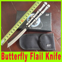 bamboo utility - 2015 New Bamboo handle Butterfly flail camping folding knife Training knives Tactical utility hiking knives EDC Pocket Knife X