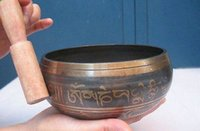antique gardens - mm Tibetan Singing Tibetan Buddhism copper spell hum singing bowls Antique Garden Decoration real Tibetan Silver Brass