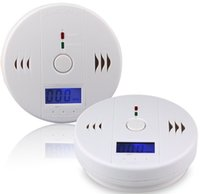 Wholesale CO Carbon Monoxide Detector Smoke Home Alarm Safety Gas Fire Poisoning Warning Alarm Sensor Battery operated Alert LED Display DHL