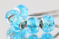 Cheap High Quality Cute luminous beads Murano Glass Beads Fit Original Pandora 925 Silver Charm Bracelet Pendant DIY Jewelry Making