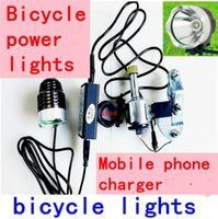 Wholesale NEW U2 Bicycle Generation wheel Friction power Front Head Light Waterproof Flashlight Bicycle LED Headlight Headlamp Lumen