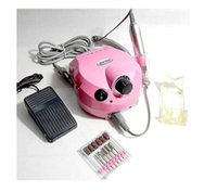 Wholesale Professional electric nail drill file machine Variable Speed Nail polisher manicure pedicure bits kit with foot pedal Nail polisher RPM