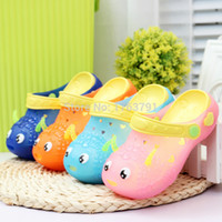 plastic clogs - Ventilate Comfortable Shoes Children Clog Shoes With Light Summer Kids LED Cartoon Garden Shoes For Boys and Girls Children