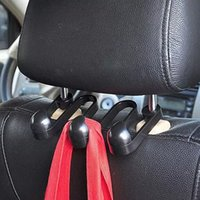 Wholesale Car Accessories Portable Car Auto Seat Hanger Purse Bag Organizer Holder Hook Multipurpose Headrest Hook