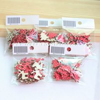 wooden horse - Designs set Fabric Topper Wooden Back Christmas Ornaments Reindeer Tree Snow Flakes Rocking Horse mm H8099552