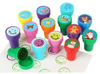 Wholesale Cartoon Stamps Sets Toy Ocean Animal Dinosaur Christmas Dogs Smiley face Smile Stamper for Kids