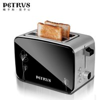 Wholesale Petrus with pe5515 household fully automatic stainless steel toaster breakfast toaster