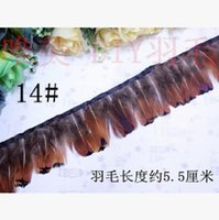 Wholesale HOT sales kinds of natural feather Pheasant fleece article Cloth belt lace cm four size mix order
