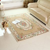 Wholesale B Beige X290cm Carpet Classic European Country style Chic Floral Floor Mat Rug