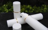 50pcs / lot PP50ml flacon airless blanc couleur claire pompe airless pour lotion BB bouteille vide à la crème blanc + Gold