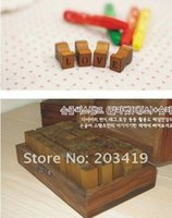antique alphabet blocks - Wooden vintage block letters Antique Alphabet numbers punctuation Stamps seal Handwriting carved gift toy PC set CN post