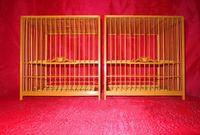 bamboo bird cages set - Customize handmade quality bamboo bird cage eye cage ocean plate set cage door traditional cage