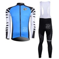 Wholesale 2015 assos men cycling Jersey sets in winter autumn fall with warm long sleeve bike top bib pants in cycling clothing bicycle wear