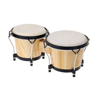 baby bongos - 6 Inch Tunable Bongos Clear Finish Bongo Musical Instrument and Educational Musical Percussion Toy for Baby Kids Chidren