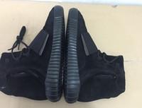 winter bags - Yeezy boost Blackout online sale Yeezy boost Blackout Shoes With Shoe Bag And Laces New Men And Women Shoe Boots