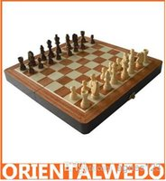 Wholesale Classic Wood Folding Champions Chess Set Game Wooden Chess Game new