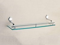 bathroom shelves glass - Single Glass Shelf Inch Whole Brass Bathroom Shelves With Chrome Wall Mounted Bathroom Accessories For Sale