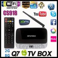 HD 1080p - 5PCS g g Q7 KODI14 Installed Bluetooth RK3188T Quad Core Android Mini PC CS918 Google Smart TV BOX GB GB WIFI Airplay Miracast