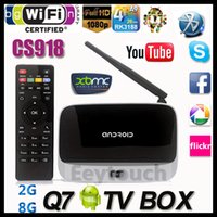smart tv - Q7 XBMC GOTHAM Installed Bluetooth RK3188T Quad Core Android Mini PC CS918 Google Smart TV BOX GB GB WIFI Airplay Miracast
