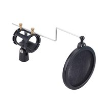 filter pop - Good Quality Dual Layer Microphone Mic Pop Filter with Shock Mount Holder for Studio Sound Recording
