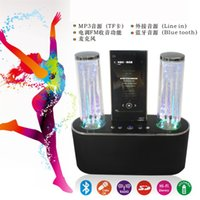 Cheap 2015 New Bluetooth Speakers Water Speaker LED Dancing Water Fountain Show Music Light Computer Speakers For Laptop  Mobile Phone