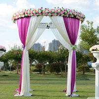 backdrop booth - Diameter M Height M Wedding Round Pavilions Chuppah Drapery for Wedding Decoration Favors Gauze Curtain Booth Vows Custom Made Size Colors