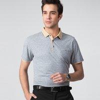 Wholesale 2015 new summer cotton short sleeved shirt collar quality POLO dot cotton mature men s shirt M XXL