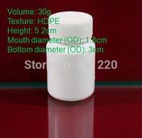 Wholesale Pill bottle Plastic white bottle ml pharmaceutical packing jar food container fill packer cm height OD cm