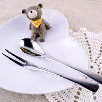 afternoon tea - Dessert tableware stainless steel coffee spoon small fruit fork mug up cake afternoon tea set