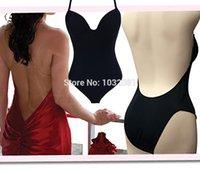 backless shapewear - Backless under dress garment shapewear full bottom body shaper with bra for wedding evening bridal bride dress vestido E58A