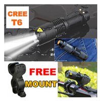 Wholesale New Lumens High Power Torch Zoomable LED Flashlight Torch light camp mode tactical Flashlight FREE MOUNT CLIP