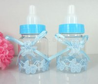 Wholesale Blue Baby Shower Favors Little Bottle Baptism For Wedding Candy Box Party Marriage Gifts Bottle