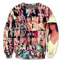 best singer - Real USA Size The best of Beyonce Actor Singer Icon D fleece Print Fashion Sweatshirt Crewneck Plus Size