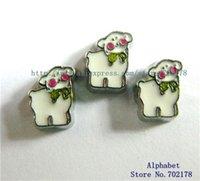 alpaca stud - FC678 Alpaca Floating Locket charms fit for living memory locket as mom daughter sister friend gift