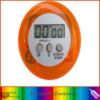 Wholesale Beautiful digital LCD timer stopwatch alarm clock for the kitchen cooking different colors DHL